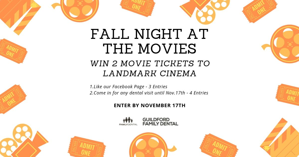 Guildford Family Dental Fall Night at the Movies Draw